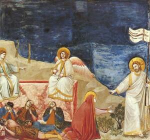 Giotto_Scrovegni_Resurrection_(Noli_me_tangere)